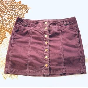 Gap Fall 2004 Vintage Corduroy Purple Mini Skirt